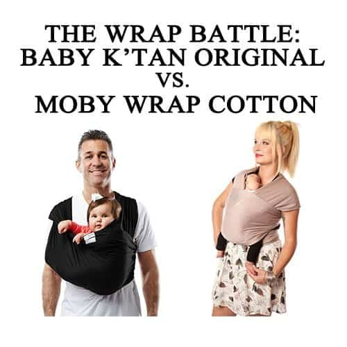 The wrap battle: Baby K'tan Original vs. Moby Wrap Cotton