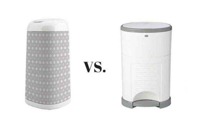 Diaper Genie Expressions Pail vs. Diaper Dekor Classic Diaper Disposal System