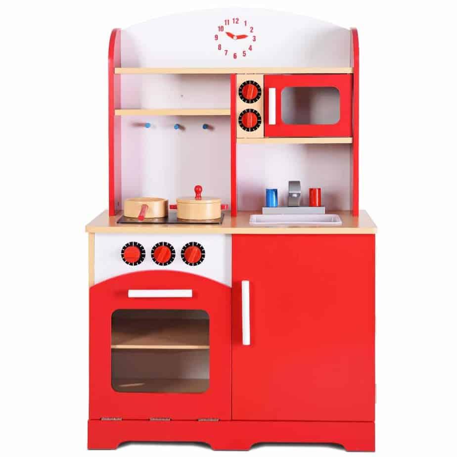 Giantex Kids Wood Kitchen Playset