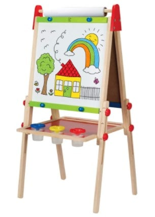 Hape All-in-One Wooden Kid's Art Easel with Paper Roll