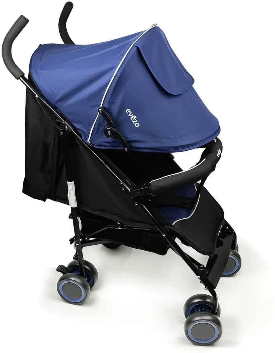 Evezo Travis Ultra Lightweight Plus Reclining Compact Stroller