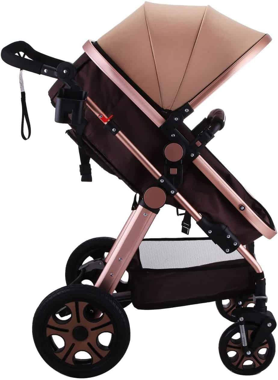 Mophorn Luxury Stroller Foldable Pushchair Pram