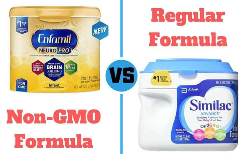 non-GMO vs regular formula