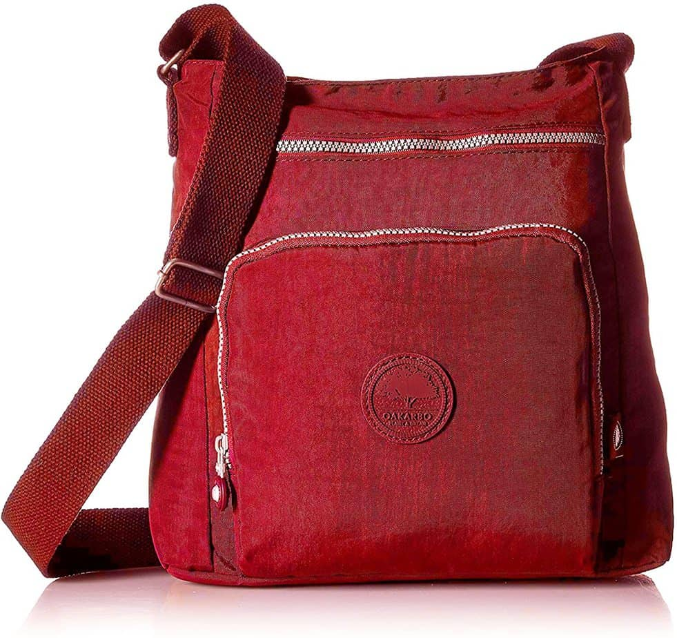 Oakarbo Nylon Multi-Pocket Cross Body Bag