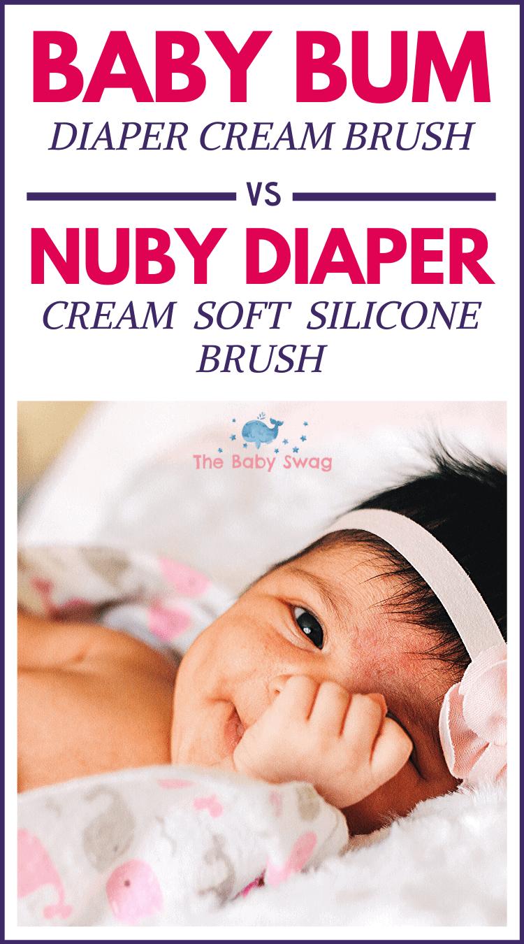 Baby Bum Diaper Cream Brush vs Nuby Diaper Cream Soft Silicone Brush