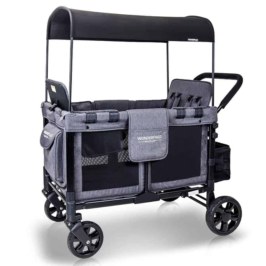 WonderFold Baby Quad Stroller Wagon