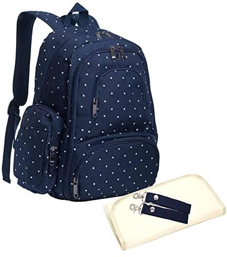 Sleeping Lamb Baby 16 Pockets Waterproof Travel Backpack Diaper Bag