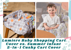 Lumiere Baby Shopping Cart Cover vs. Summer Infant 2-In-1 Cushy Cart Cover