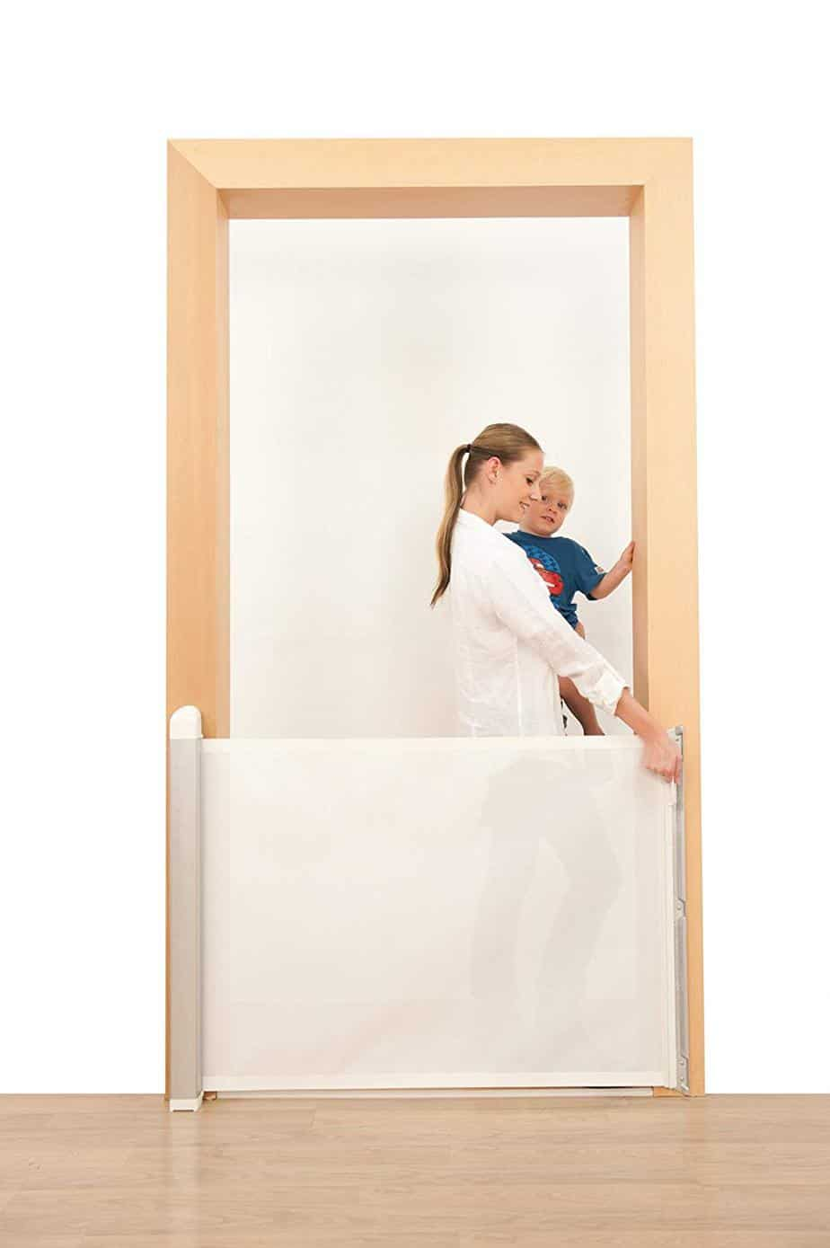 Image result for Lascal KiddyGuard Avant Retractable Baby Safety Gate amazon