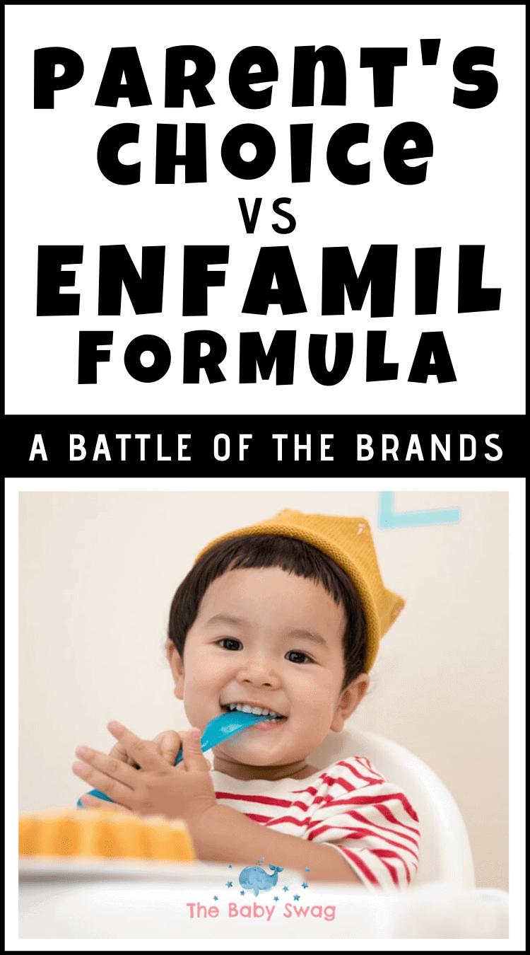 Parent's Choice vs. Enfamil Formula - A Battle Of The Brands
