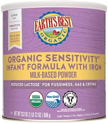 organic sensitivity infant formula