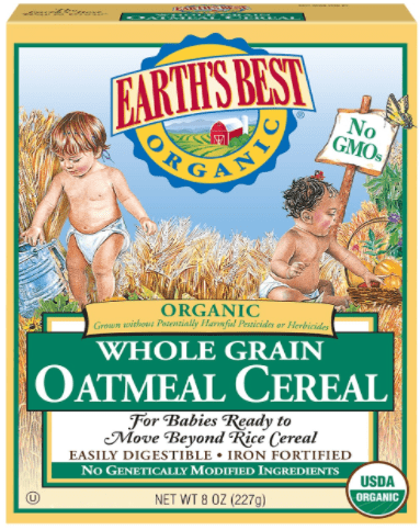 earth's best organic inffant cereal