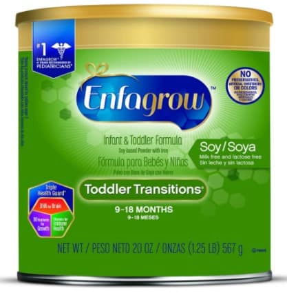 enfagrow soy toddler formula