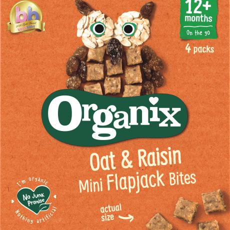 Organix Oat & Raisin Mini Flapjack Bites | Organicbabyshop