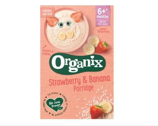 Organix Strawberry and Banana Porridge | OrganicBabyShop