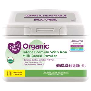Parent's Choice Organic Infant Formula | eBay