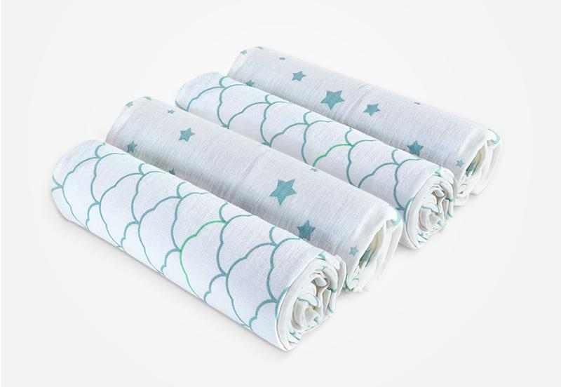 2-Pack Organic Swaddle Blankets | BabyCubby