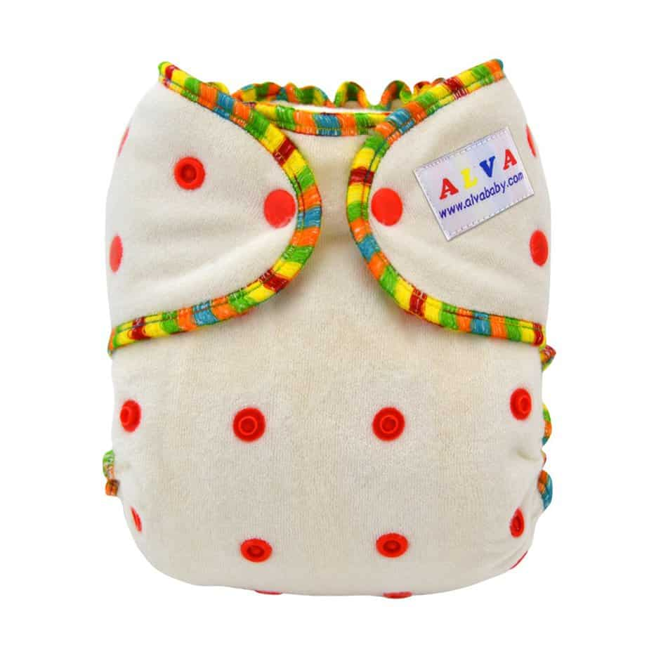 ALVABABY One Size Cute Bamboo Fitted Diapers