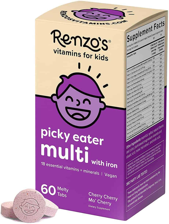 Renzo's Picky Eater Multi Dissolvable Vegan Vitamins