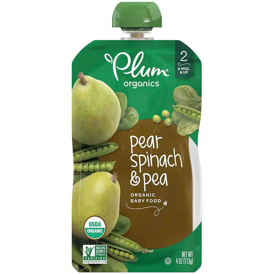 pear spinach and pea
