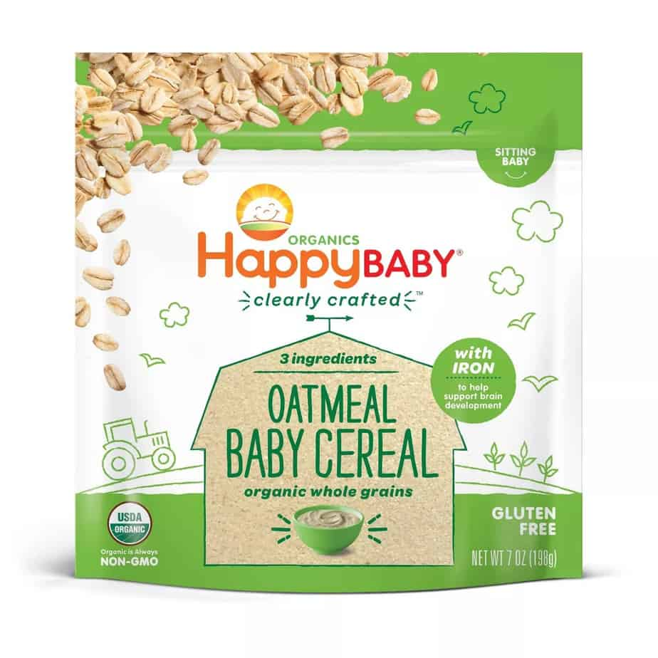 HappyBaby Clearly Crafted Oatmeal Baby Cereal   Target
