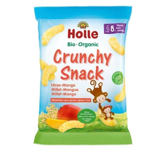 Holle Organic Crunchy Snack Millet-Mango Puffs   Organic Baby Shop